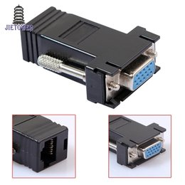 $enCountryForm.capitalKeyWord Australia - 100pcs lot Factory Price Hot Selling New VGA Extender Female To Lan Cat5 Cat5e RJ45 Ethernet Female Adapter
