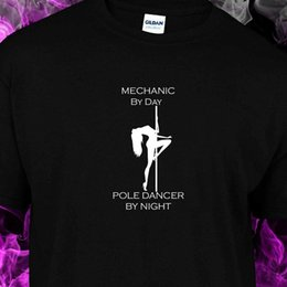 Poles Lady Australia - mechanic by day pole dancer by night - Youth, Ladies fitted, Unisex S-2XL Tshirt