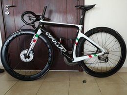 bike complete UK - World Champion Cipollini NK1K Disc Disk Carbon Road Complete bike with Original R7020 groupset Thru axle