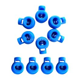 $enCountryForm.capitalKeyWord Australia - 10 Pieces Durable Plastic Shock Cord Bungee Rope Toggle Fastener Terminal End Lock Stoppers Spring Ball Buckles