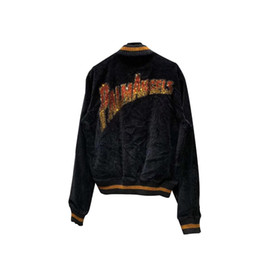 China 2019fw Best Version Palm Angels Diamonds Logo Embroidery Women Men Corduroy Jacket Coat Hiphop Streetwear Men PA Zip-up Jacket cheap black stand up collar jackets suppliers