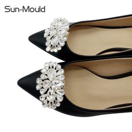 $enCountryForm.capitalKeyWord Australia - Daily shoes flower charms bridal high-heel pumps accessories crystal diamond shoe clips Fashion wedding decoration buckle 1pairs