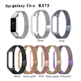 $enCountryForm.capitalKeyWord Australia - Milanese loop Bands Replacement Watch Band Stainless Steel Wrist Strap For Samsung Galaxy fit-e SM-R375 Smart Wristbands Strap Band Bracelet