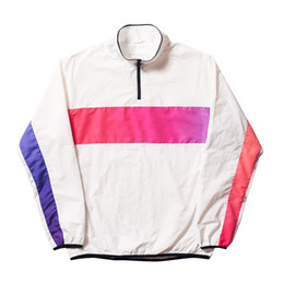 palace jacket UK - mens designer jackets fashion brand PALACES letter logo print windbreaker luxury rainbow gradient hip hop street jacket