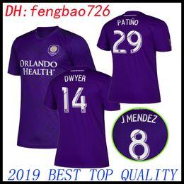 ef6c33cc190 2019 2020 MLS Club Orlando City home Soccer Jerseys 19 20 #10 COLMAN #8 J.  MENDEZ soccer Shirt DWYER NANI Football Uniform