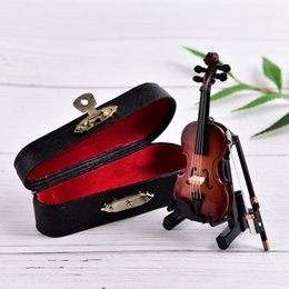 Musical Instruments Australia - New Home Modern Art Decor Mini Musical Instrument Violin Model Ornaments New Fashion Mini Violin Ornaments