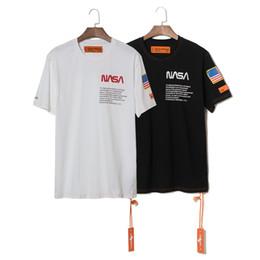 Опт NASA x Heron Preston футболка мужская лето с коротким рукавом футболки Emboridered Crewneck повседневная топы 2 цвета