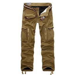 $enCountryForm.capitalKeyWord Australia - Plus Size Mens Thick Winter Pants Hot Pants Full Length Multi Pocket Military Casual Baggy Tactical Pants Joggers Trousers