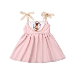 4c112c649315 2019 Newborn Infant Toddler Baby Girls Kids Easter Dress Halter Summer  Sleeveless Rabbit Bunny Costume Clothing Outfit Sundress