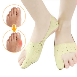 sheepskin wholesale NZ - Dropshipping Elastic Bunion Corrector Foot Care Tool Big Foot Bones Toe Separator Hallux Valgus Orthopedic Supplies