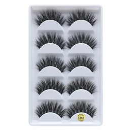 individual eyelash wholesalers UK - Handmade false eyelashes 3D mink natural thick eyelashes 5 pairs=10 pcs=1set fake eyelash Beauty tools DHL free