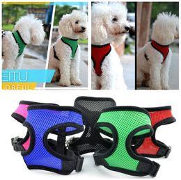 Nylon Dog Collar Wholesale UK - Brand new Pet dog Nylon Mesh Harness Strap Vest Collar Small Medium-sized Dog Puppy Comfort Harness 7 colors