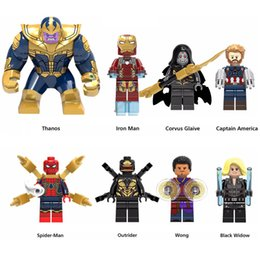 $enCountryForm.capitalKeyWord Australia - Super Hero Avengers Infinity War Thanos Iron Man Black Widow Wong Outrider Spider-Man Captain America Mini Toy Figure Building Block
