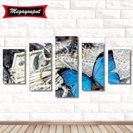 $enCountryForm.capitalKeyWord Australia - 5 loading Full 5D Diamond Painting Kits Embroidery Multicolored Butterflies Cross Stitch kits living room mosaic pattern Home Decor BI224