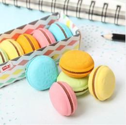 Kawaii Lipstick Australia - 5 PCS Cute Kawaii Colorful Cake Rubber Eraser Creative Macaron Eraser For Kids Student Gift Novelty Item