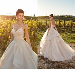 71180bcbcd31 Beautiful tulle skirts online shopping - Beautiful Layer Ruffle Skirts  Champagne Country Wedding Dresses A Line