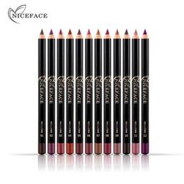 Lipstick pen makeup online shopping - 12 Colors Brand Lip Pencils Matte Lipliner Pencil Waterproof Makeup Lips Matte Lipstick Lip Liner Pen Smooth Nude Cosmetics