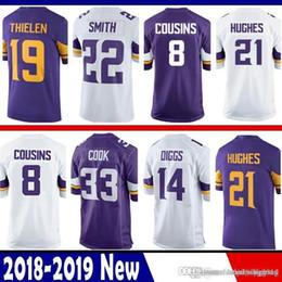 1611e7336 8 Kirk Cousins Jersey Minnesota 19 Adam Thielen Vikings 14 Stefon Diggs 22  Harrison Smith 33 Cook 84 Patterson 55 Barr 29 Rhodes Hughes Moss