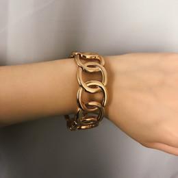 14k gold bangles bracelets china 2019 - 2pcs Lot Exaggerated Punk Alloy Circle Bracelet Simple Hollow Geometry Round Bracelet & Bangle Boho Hand Jewelry cheap 1