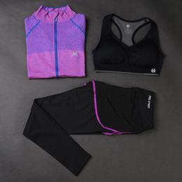 $enCountryForm.capitalKeyWord NZ - Ld.alice Brand Women Fitness Yoga Set Patchwork Sports Tshirt+Shockproof Female Bra+Running Tights Yoga Pant Ladies Clothes Suit