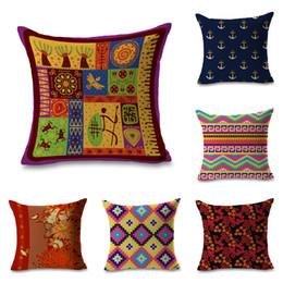 $enCountryForm.capitalKeyWord Australia - Indian Culture Illustrations Throw Massager Pillow Case Decorative Pillows Warm Home Decor Vintage Gift