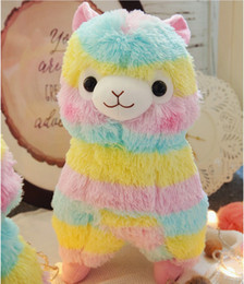 kawaii alpaca toy UK - 20cm 25cm 35cm 50cm Cute Rainbow Alpacasso Kawaii Alpaca Llama Arpakasso Soft Plush Toy Doll Stuffed Animals Kids Boys Girls Birthday Gift
