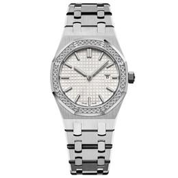 novas mulheres relógios 33MM completa cinta de aço inoxidável relógio de ouro top luminosa qualidade relógio de pulso de safira relógios 5ATM impermeável em Promoção