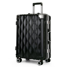 black spinner luggage Australia - 20 24 Inch Luggage Suitcase women Boarding Spinner suitcase Men Travel Rolling luggage bag On Wheels Travel Wheeled