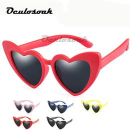 $enCountryForm.capitalKeyWord Australia - Baby Girl Sunglasses For Children Heart Tr90 Black Pink Red Heart Sun Glasses For Kids Polarized Flexible Uv400