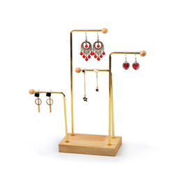 $enCountryForm.capitalKeyWord Australia - Jewelry Earring Displays Hanging Prop Crafts Fair Trade Show Kiosk Presentation Fixture Stud Dangling Earrings Exhibiting Holder Modern Chic