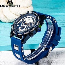 hand watch for men sports Australia - MEGALITH Sport Fashion Quartz Watch Men Luxury Waterproof Chronograph Date Top Brand Luminous Hands Wrist Watches For Men Clock