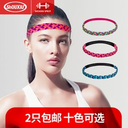 Wholesale Yoga Headband Fitness Sports Female Sweatband Non slip Tide Men and Women Weave Hair Bands Run Antiperspirant
