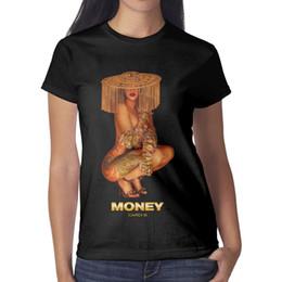 Money Print Shirts Australia - Cardi b Money Women T Shirt black Shirts Custom T Shirts Make a Personalised Band Print Your Own Shirt Black