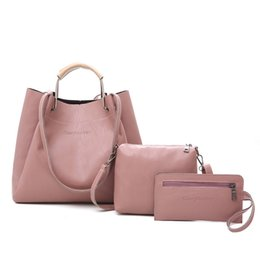 shopper bag tote Australia - 3Pcs Set Women Handbag Set 2019 Messenger Bags Purse Ladies Fashion Shoulder Bag Lady PU Leather Capacity Casual Female Shopper Tote Bags