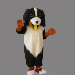 black white movie costume UK - 2019 Professional custom High quality black and white dog mascot costumes fancy costumes free shipping