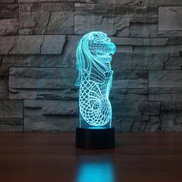 $enCountryForm.capitalKeyWord Australia - New 3D Colorful Night Light LED USB Merlion Moulding Lion Head Fish Tail Table Lamp Bedroom Decor Visual Luminariass Souvenir Gifts