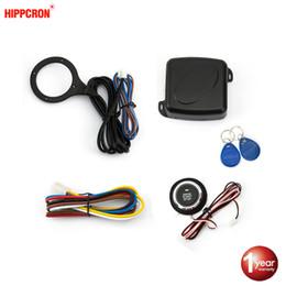 $enCountryForm.capitalKeyWord Australia - Hippcron Auto Car Alarm Car Engine Push Start Button RFID Lock Ignition Starter Keyless Entry Start Stop Anti-theft System