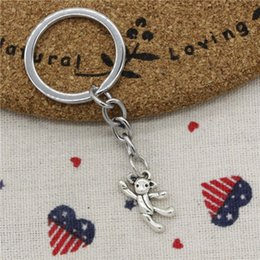 $enCountryForm.capitalKeyWord Australia - Wholesale Fashion Keychain gymnastics lovely bear 19*10mm Pendants DIY Men Jewelry Car KeyChains Holder Souvenir For Gift