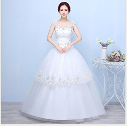 b16a48a1b34 Wedding tube top new shoulder bride wedding dress was thin word shoulders  large size winter