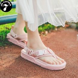 $enCountryForm.capitalKeyWord NZ - Unisex Lovers Summer Beach Fashion Flip Flops Slide Slippers Men Women Korea Multi color Sandals Slipper 36-44