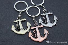 $enCountryForm.capitalKeyWord Australia - Free DHL Bronze Boat Anchor Keychain Bag Pendant Car Key Ring for Men Trinket Gadget Key Chains Jewelry Accessories 3 Colors G307S F