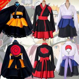 Anime costumes for women online shopping - Customized Naruto Shippuden Uzumaki Naruto Female Lolita Kimono Dress Wig Anime Cosplay Costume For Women Clothes MX190921