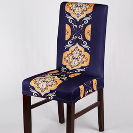 $enCountryForm.capitalKeyWord Australia - Stretch Elastic Chair Covers European Style Printed Vintage Chair Seat Covers Slipcovers Restaurant Hotel Kitchen Spandex Chair Covers
