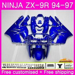 $enCountryForm.capitalKeyWord Australia - Bodys For KAWASAKI NINJA ZX 9R ZX900 ZX-9R 94 95 96 97 Kit New Glossy blue 69HM.15 ZX 9 R 94 97 900CC ZX9R 1994 1995 1996 1997 Full Fairing