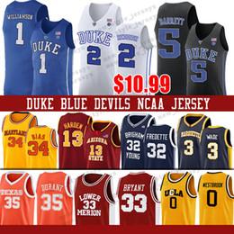 Kobe basKetball shorts online shopping - NCAA Zion Williamson Duke Blue Devils jersey Bryant Kobe Westbrook Russell Cam Reddish RJ Barrett Len Bias