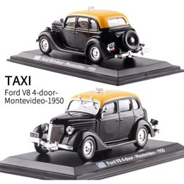 $enCountryForm.capitalKeyWord Australia - 1:43 Scale Ford V8 4-door Montevideo 1950 TAXI Diecast Metal Car Model Toy For Kids Gifts Collection Original Box Static