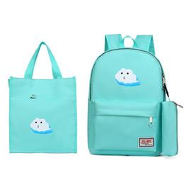 Kids Book Sets Australia - 2019 2 pcs school Backpack Girl School Bags Set Kids travel Book Bag Cute Children Knapsack Bag For Girl Satchel