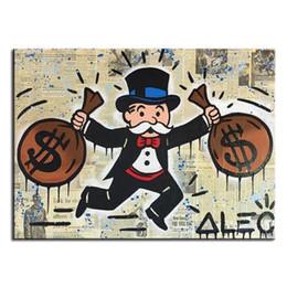 "$enCountryForm.capitalKeyWord Australia - Handpainted & HD Print Alec Monopoly ""Double Pack Idea"" Graffiti Art oil painting On Canvas High Quality Home Decor Wall Art Multi Size g247"