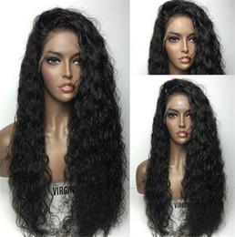 Loose Curls Long Hair Australia - Brazilian Virgin Hair Curly Glueless Full Lace Human Hair Wigs Unprocessed Hair Deep Curl Lace Front Wig