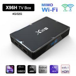 $enCountryForm.capitalKeyWord Australia - X96H Smart TV Box Android 9.0 H603 Quad Core 2.4G 5G Dual Wifi Mimo HDR 6K Google Player Youtube Media Player Set Top Box 4GB 32GB Bluetooth
